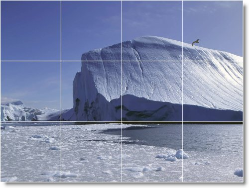 INVIERNO FOTO TILE MURAL W065  36X 48CM CON (12) 12X 12AZULEJOS DE CERAMICA