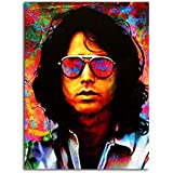 Tamatina Canvas Paintings - The Lizard King - Jim Morrison - Music Canvas Paintings - Modern Art Paintings - Paintings For Home Décor - Paintings For Drawing Room - Wall Paintings For Bedroom - Paintings For Living Room - Wall Paintings For Home De