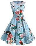 Dresstells 1950er Vintage Retro Cocktailkleid Rockabilly Festlich Partykleider Sommerkleid Floral M