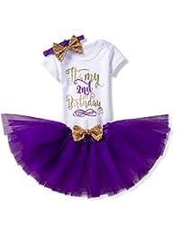 b64c5a622109 Amazon.co.uk  Purple - Baby Girls 0-24m   Baby  Clothing