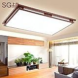 Yun Estudiar Chino acrílico simple LED lámpara lámpara dormitorio sala de estar moderno cuadrado sólido madera Plafón de