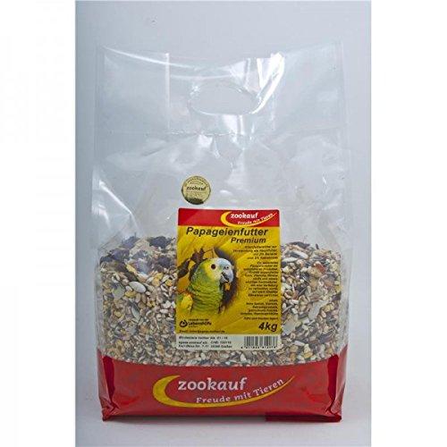 zookauf Vogel Futter Premium für Papageien 4 kg