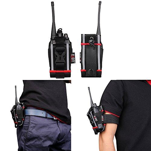 BUBM multifunzione guaina regolabile della cassa del supporto per la radio bidirezionale / Ham Radio / cellulare per Baofeng Pofung UV5R 5RA 5RB 5RE B5 UV-F8 5R + plus GT-1 GT-3 GT-5 888S UV82 Wouxun UVD1P UV6D / Motorola / Midland / Uniden radio / iPhone4 4s 5 5s 6 Plus Samsung S4 S5 S6 Nota4