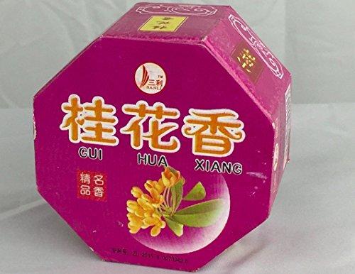 Duftblüten Herbal Räucherstäbchen (32Japanische Spulen)-inklusive kunstvollem Brenner und Halter