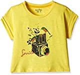 Gini & Jony Baby Girls' T-Shirt (122030662204 C303_Lemon Zest_24M) best price on Amazon @ Rs. 249