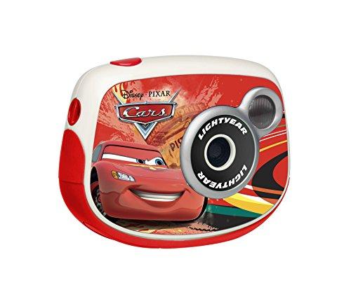 Lexibook ledj024dc fotocamera digitale per bambini, 1.3 mp, disney cars, rosso