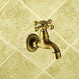 SADASD Il lavandino del bagno rubinetto di antiquariato Europeo di rame tavolo antico bacino bacino d'arte porcellana rubinetto da bagno esclusivi Home rubinetto (acqua calda e fredda) - SADASD - amazon.it