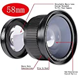 Neewer 58 mm 0.35x Super Fisheye Wide Angle Lens with Cover for Canon DSLR Camera