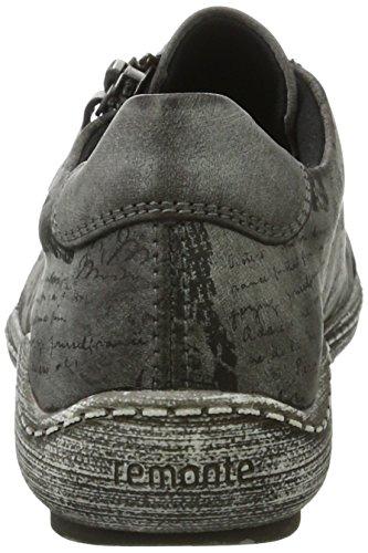 Remonte Damen R1402 Sneakers Grau (asphalt/schwarz / 45)