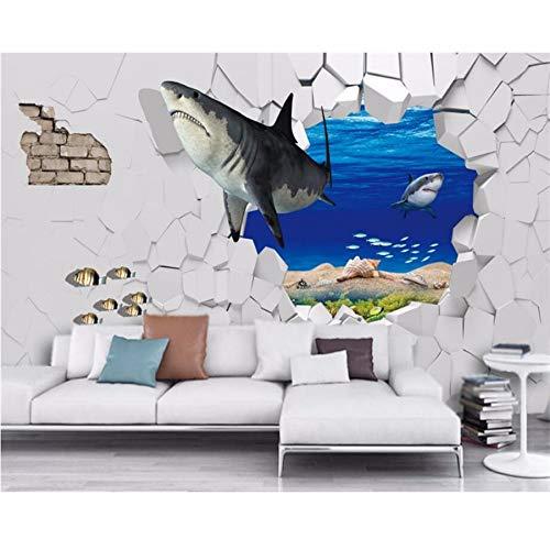 Brise Marine (Pmhhc Fond D'Écran Personnalisé Requin Sous-Marin Brisé Image En Image 3D Tv Fond Murs Salon Chambre 3D Papier Peint-450X300Cm)