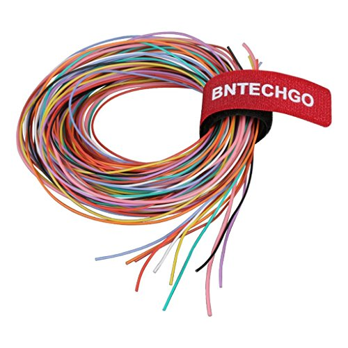 BNTECHGO 30 Gauge Silicone Wire Kit Ultra Flexible 10 Color High Resistant 200 deg C 600V Silicone Rubber Insulation 30 AWG Silicone Wire 11 Strands of Tinned Copper Wire Stranded Wire Battery Cable -