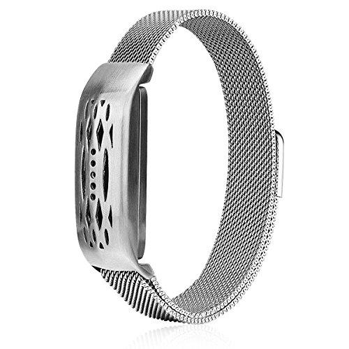 VIGOSS Fitbit Flex 2 Uhrenarmband, New Fashion Mailand Mesh Zubehör Armband Armreif für Fitbit Flex 2 (Silber)