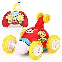 Markc infantil Toy Boy Dump Truck Stunt Car coche de control remoto recargable del coche de competición 360 ° de rotación que tuerce luces pueden mantenerse en pie Materiales respetuosos del medio amb