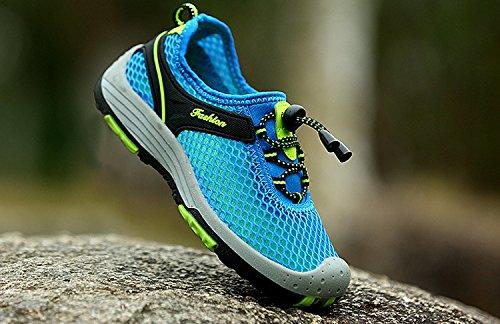 Mesh Geschlossene Sandalen Outdoor Trekking Schuhe Kinder Jungen Mädchen Wander Abriebfeste Sohle Sneaker Sommer Blau