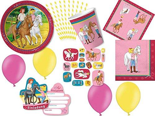 bi und Tina - für 8 Kinder - Partygeschirr und Zubehör (Kleinkind-mädchen-geburtstags-party)