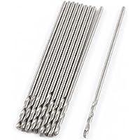 0,5 mm x 6 mm x 22 mm perforación Brocas en espiral de acero de alta velocidad 10 piezas