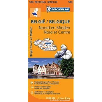 Carte Belgique Nord & Centre Nord Michelin