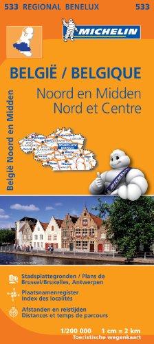 Carte Belgique Nord & Centre Nord Michelin par Collectif MICHELIN
