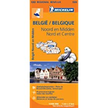 Carte Belgique Nord & Centre Nord Michelin