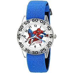 Marvel Kids' W002591 Spider-Man Time Teacher Analog Display Analog Quartz Blue Watch
