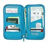 SAVFY-Reiseorganizer-Reisedokumententasche-Reisebrieftasche-mit-Reiverschluss-fr-Mnzen-Stift-Kreditkarten-Flugkarten-Passport