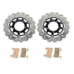 TARAZON paar Bremsscheiben + Beläge Set vorne passende GSX-R GSX R 600 750 K6 K7 2006 2007 GSXR 1000 2005-2008