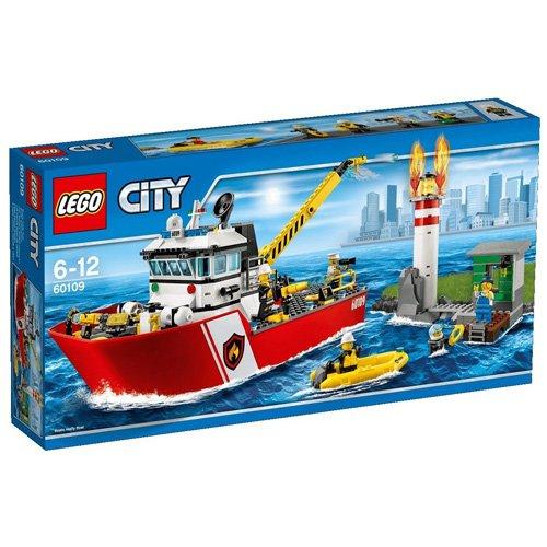 LEGO - BARCO DE BOMBEROS  MULTICOLOR (60109)