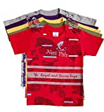 #10: KGB Multicoloured Cotton t Shirts for Boys Pack of 5