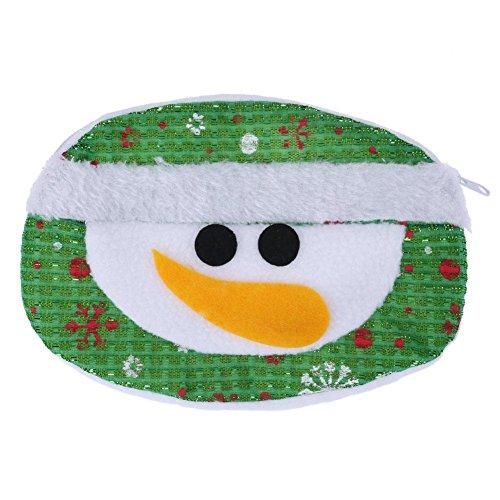 broadroot Weihnachten Santa Claus Schneemann Runde Münze Geldbörse Tasche Candy Geschenk Tasche Round snowman wallet (Claus Geldbörse)