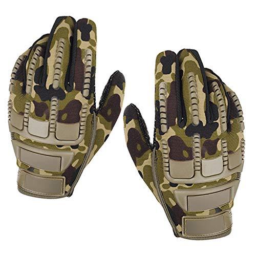 ZqiroLt Handschuhe für Herren, Militär, Militär, für den Außenbereich, taktisches Kampffahrrad, Airsoft, Vollfinger, Schwarz Camouflage -