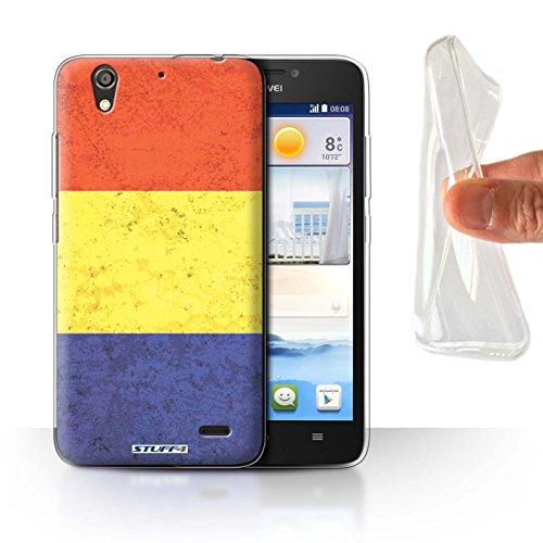 Stuff4® Gel TPU Hülle/Case für Huawei Ascend G630 / Rumänien/Rumänisch Muster/Flagge Kollektion