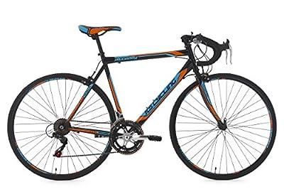 KS Cycling Fahrrad Rennrad Piccadilly RH 56 cm, Schwarz/Orange/Blau, 28 Zoll, 230R