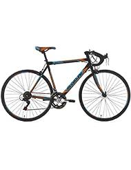 KS Cycling Fahrrad Rennrad Piccadilly RH 59 cm, Schwarz/Orange/Blau, 28 Zoll, 231R