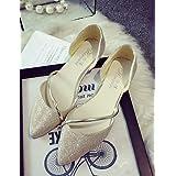 LvYuan-pd YYZ Zapatos de mujer - Tacón Plano - Bailarina / Puntiagudos - Planos - Oficina y Trabajo / Vestido / Casual / Fiesta y Noche - Semicuero - , golden-us8 / eu39 / uk6 / cn39 , golden-us8 / eu39 / uk6 / cn39