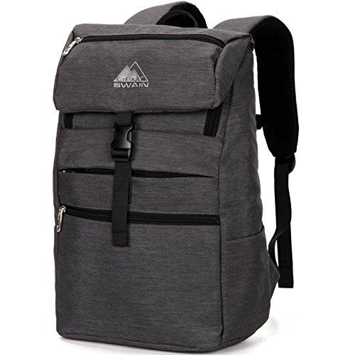 """COX SWAIN Rucksack Caja - 15"""" Notebook Laptop Rucksack Schulrucksack 25 Liter, Colour: Dark Grey"""