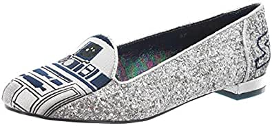 Irregular Choice Women's Astromech Ballet Flats Silver Size: 42 EU (8 UK)