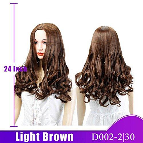 (SHANGKE HAIR Synthetische hitzebeständige lange Wellen-Perücken für schwarze Frauen-natürliche lockige schwarze Haar-Perücken synthetisches hitzebeständiges)