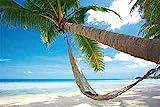 Beaches - Chill Out Paradise - Beach Poster Foto Strand Palmen Meer Paradies - Grösse 91,5x61 cm