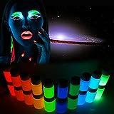 yunt Vernici fluorescenti pittura corporea Nero lumibneuse per il corpo e il viso H: Bleu Ciel