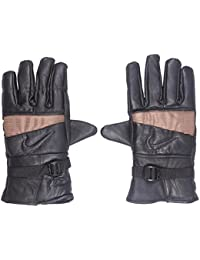 Modish Designs Black Color Self Design Winter Men's/boys Gloves