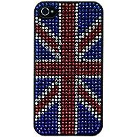 Mocca Design Strass Coque pour iPhone 4/4S Drapeau d'Angleterre
