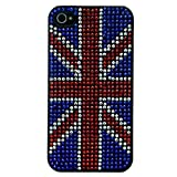 Mocca Design Strass Coque pour iPhone 4/4S Drapeau d'Angleterre