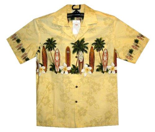 PLA-Original-Camisa-Hawaiana-Surfboards-Chest-Pressure-amarillo-L