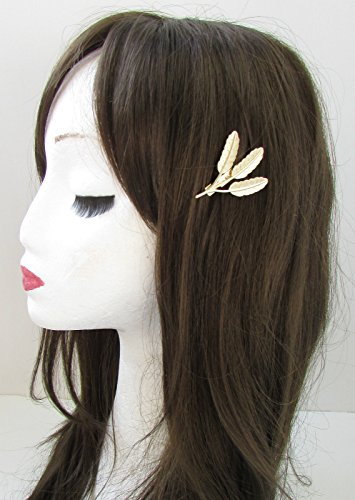 Blé feuilles or cheveux clip broches Combe International Grecian Feuille romain de Boho de Mariage VTG X-52 * * * * * * * * exclusivement vendu par – Beauté * * * * * * * *