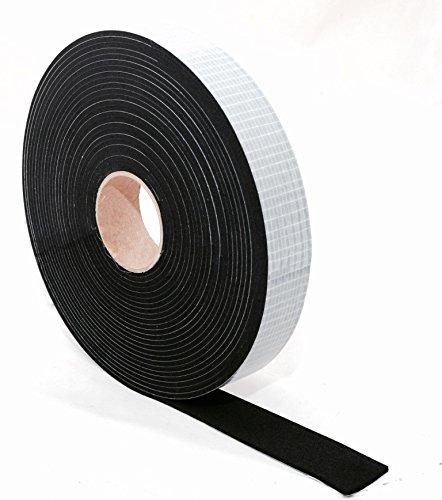 EPDM Zellkautschuk Dichtungsband einseitig, selbstklebend Moosgummi - 10m je Rolle- Breite 15mm x Dicke 3mm (15x3) Premium-Qualität mit Geld-zurück-Garantie