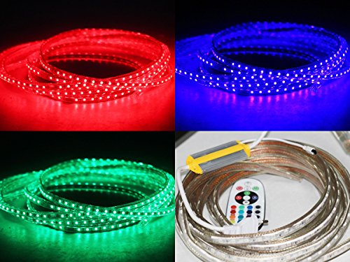 10-30m 230V RGB LED 60 leds Strip Streife leiste ip65 mit Kontroller Dimmer FB (3Meter)