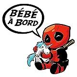 THELITTLESTICKER Sticker, Bébé à Bord ! Deadpool H.11 cm