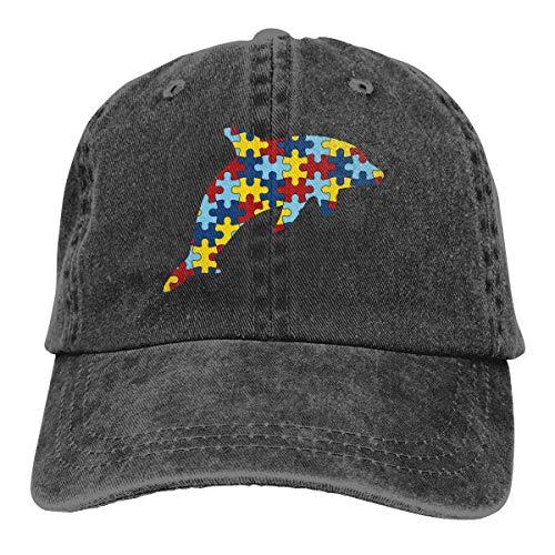 j65rwjtrhtr Men's/Women's Adjustable Denim Jeans Baseball Cap Silhouette-Dolphin Plain Cap