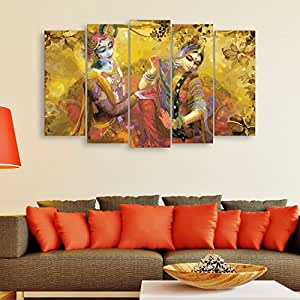 ... Inephos Multiple Frames Beautiful Radha Krishna Wall Painting For Living  Room