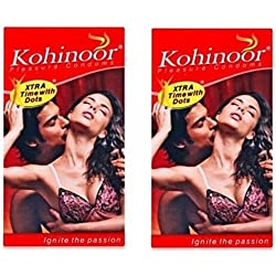 Kohinoor Pleasure Dotted Condom - 20 S  (Set of 2)